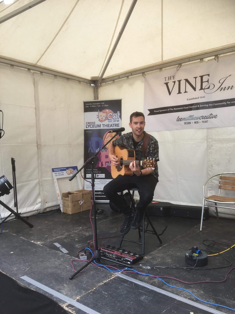 Callum Wright at 2019 Nantwich Food Festival