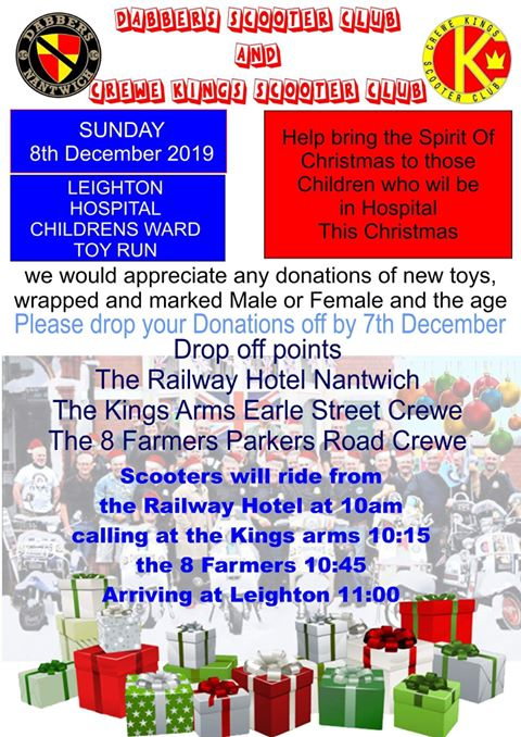 Leighton Hospital Childrens Ward Toy Run